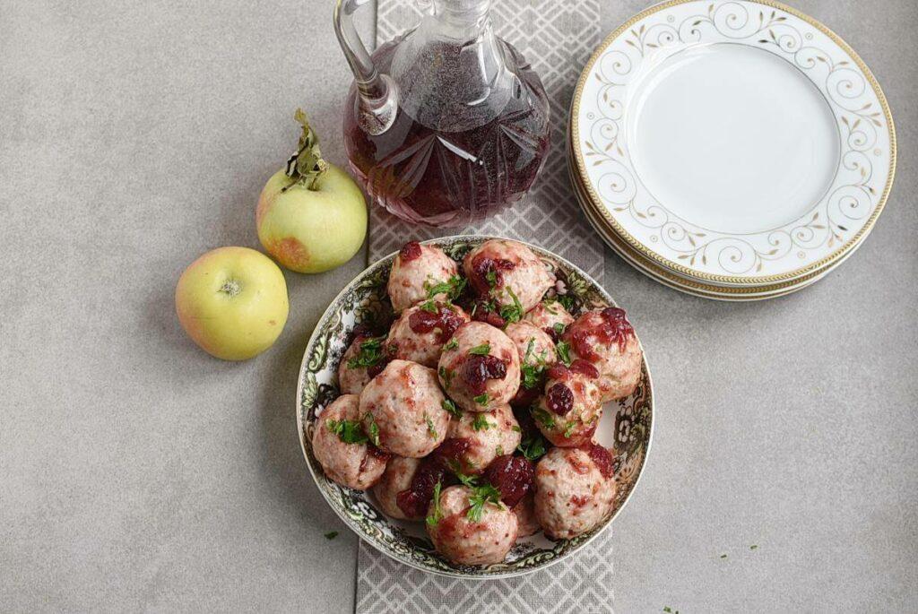 How to serve Apple Cranberry Turkey Meatballs