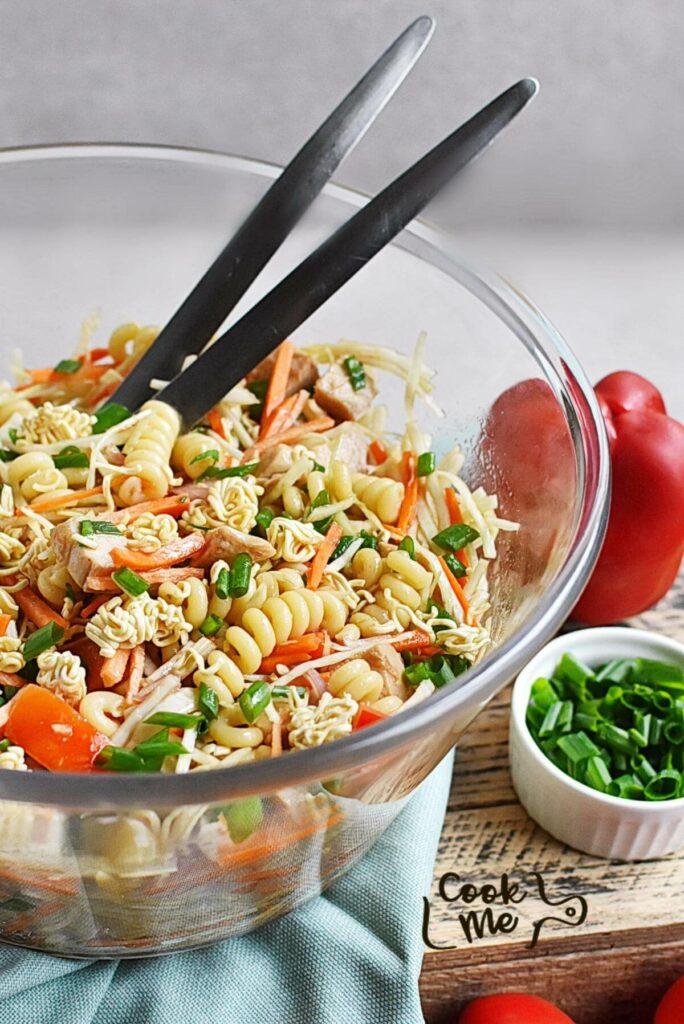 Asian Chicken Crunch Pasta Salad