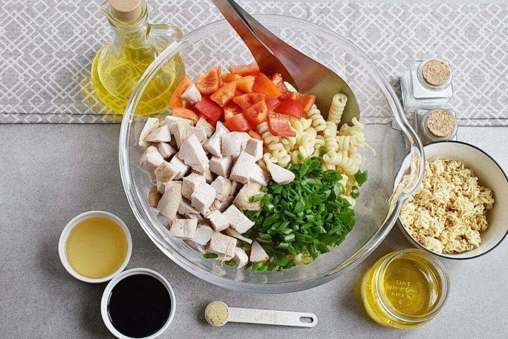 Asian Chicken Crunch Pasta Salad recipe - step 1