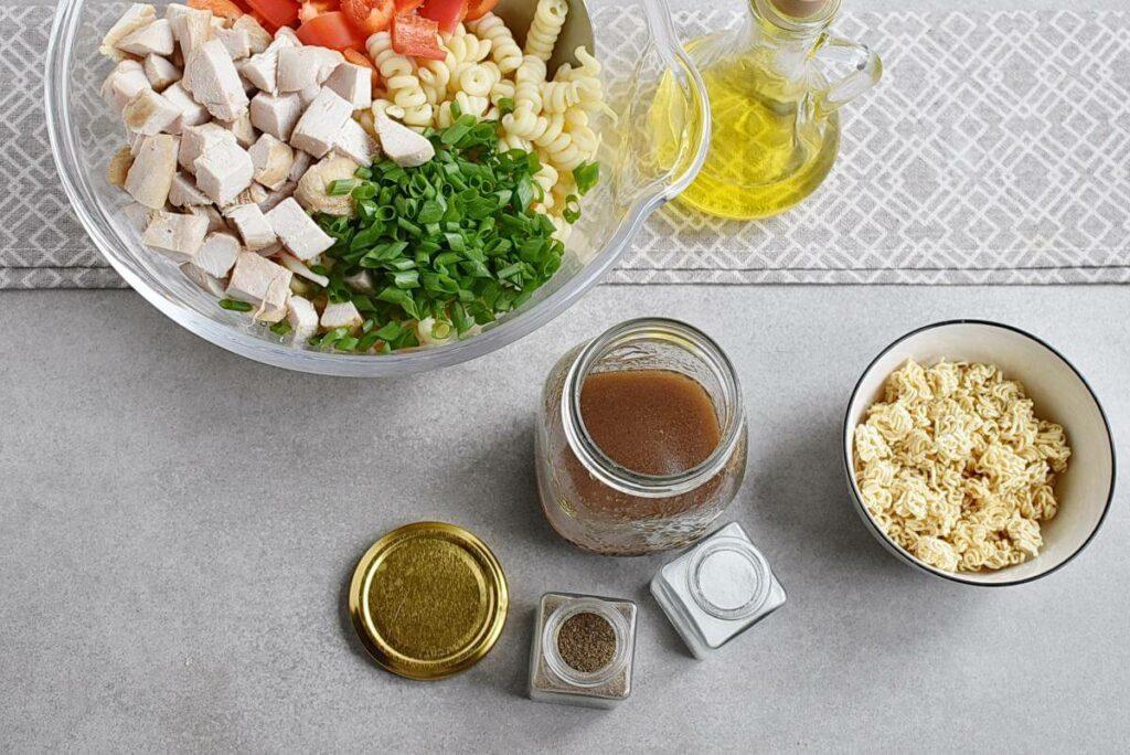 Asian Chicken Crunch Pasta Salad recipe - step 2