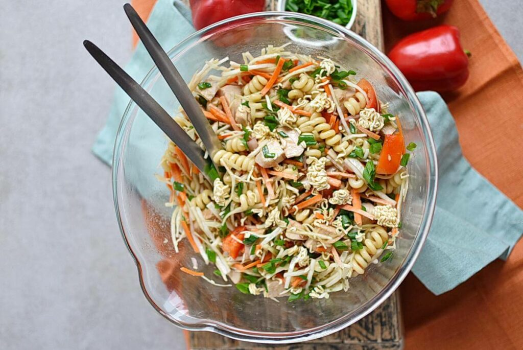 How to serve Asian Chicken Crunch Pasta Salad