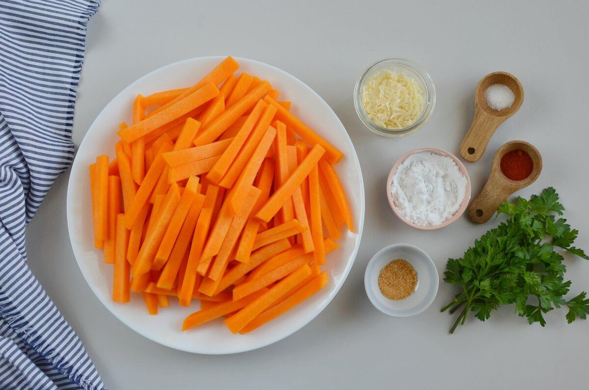Ingridiens for Baked Parmesan Pumpkin Fries