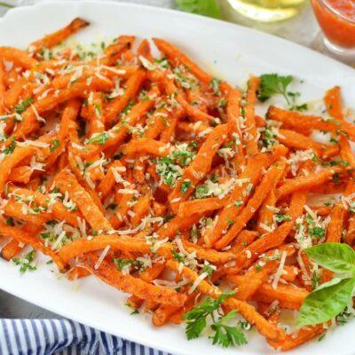 How to serve Baked Parmesan Pumpkin Fries