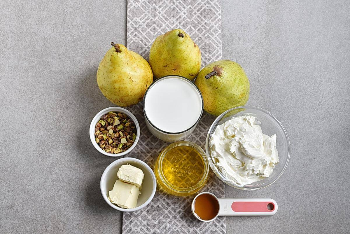 Ingridiens for Gluten Free Baked Pears