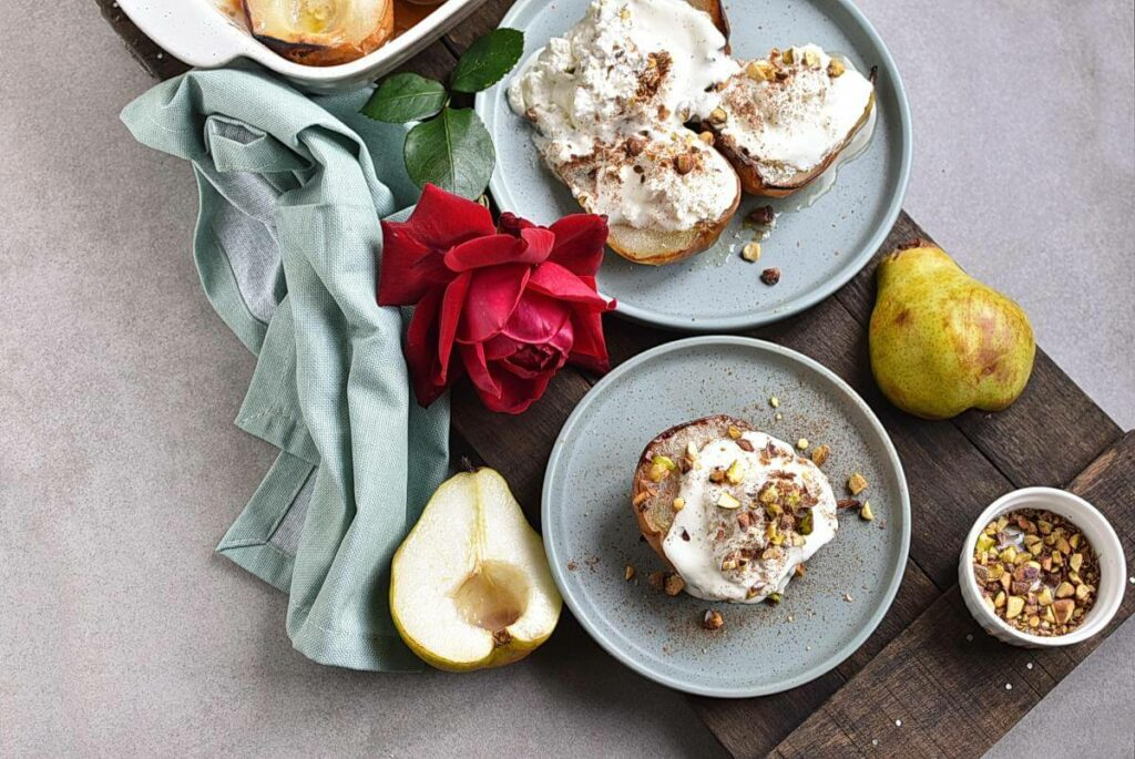 How to serve Gluten Free Baked Pears