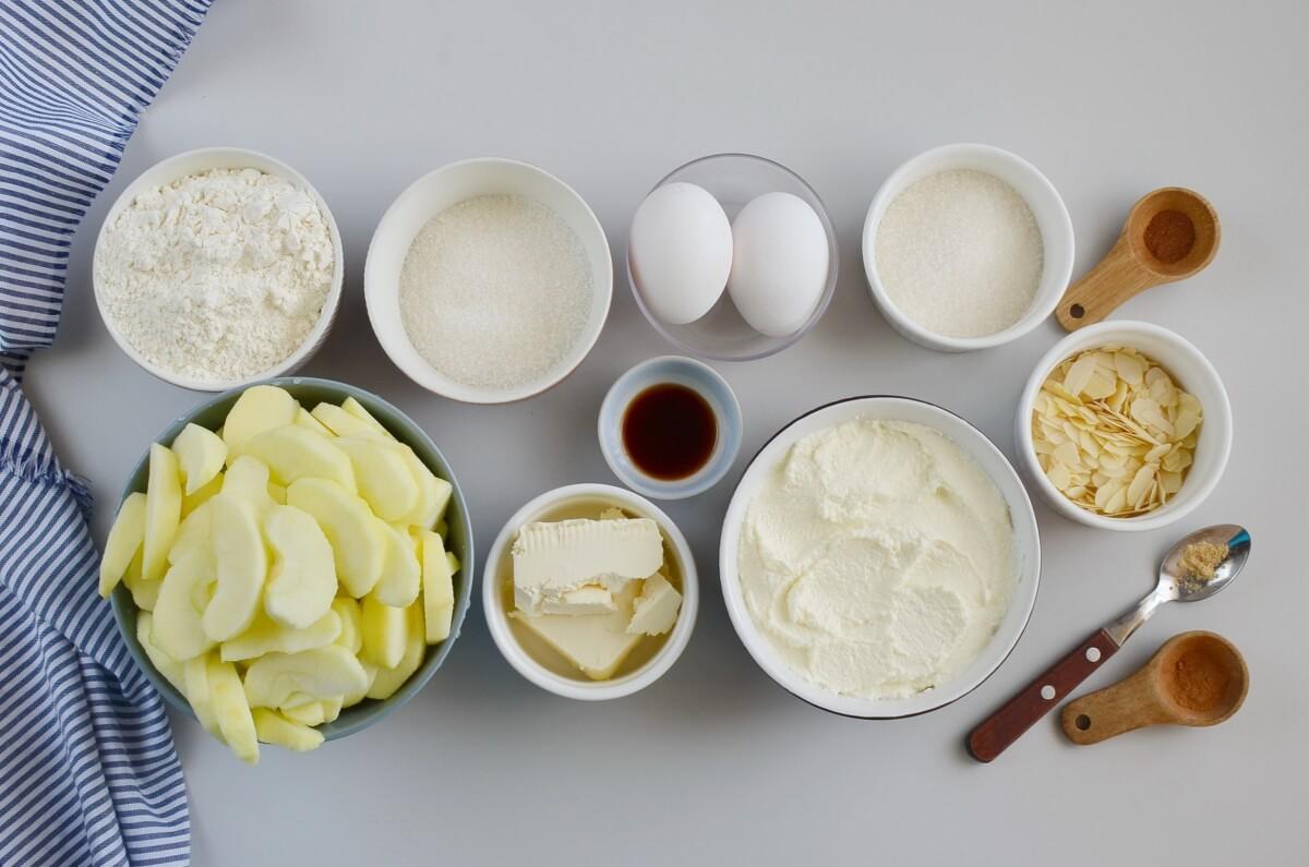 Ingridiens for Bavarian Apple Tart
