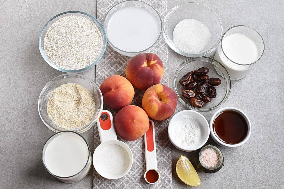 Ingridiens for Gluten-Free Pretty Peach Tart
