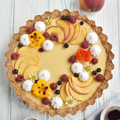 Gluten Free Pretty Peach Tart Recipes– Homemade Gluten Free Pretty Peach Tart–Easy Gluten Free Pretty Peach Tart