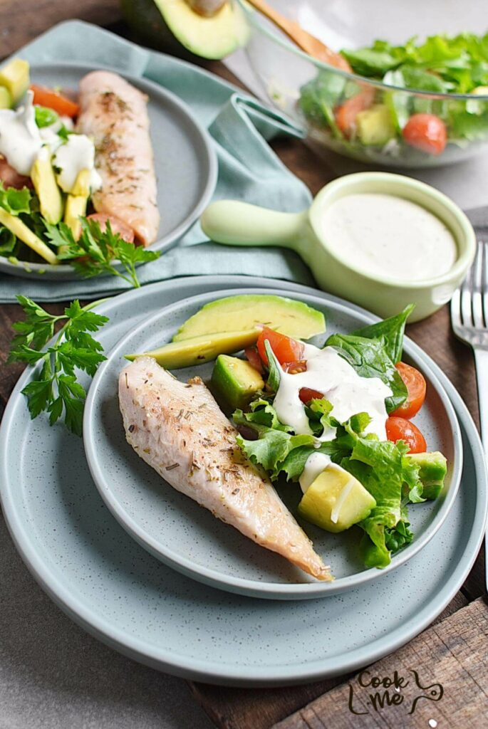 Grilled Chicken Salad with Creamy Dressing