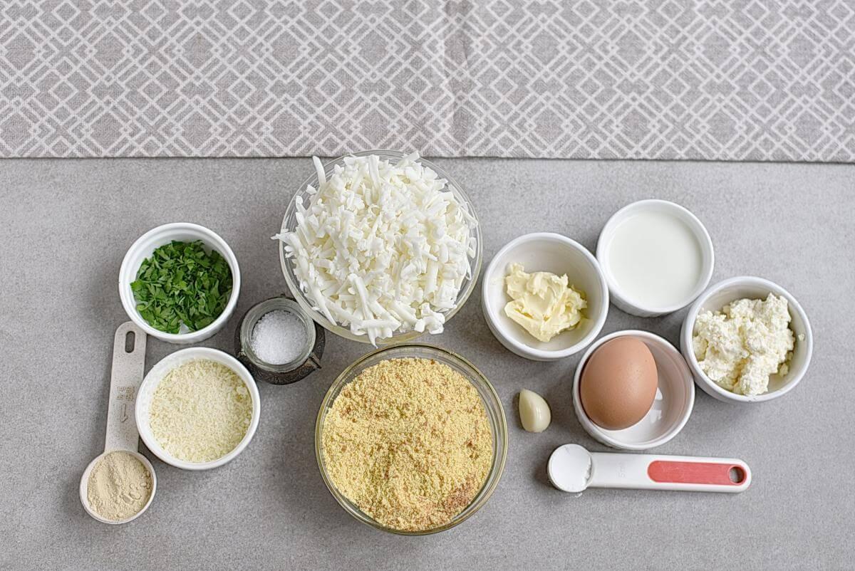 Ingridiens for Keto Garlic Bread