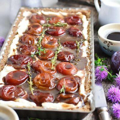 No-Bake Plum Tart with Mascarpone Recipes– Homemade No-Bake Plum Tart with Mascarpone– Easy No-Bake Plum Tart with Mascarpone