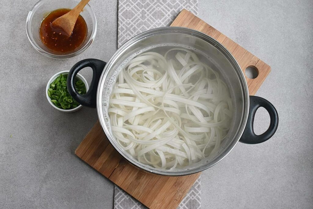 Noodles with Turkey, Green Beans and Hoisin recipe - step 1