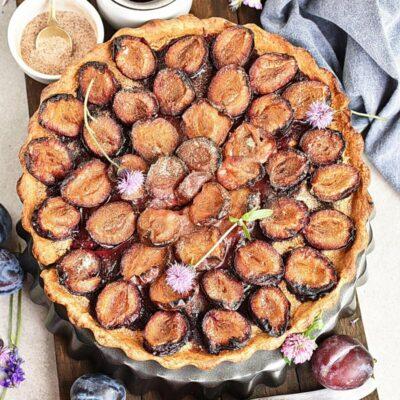Plum Tart Recipes– Homemade Plum Tart –Easy Plum Tart