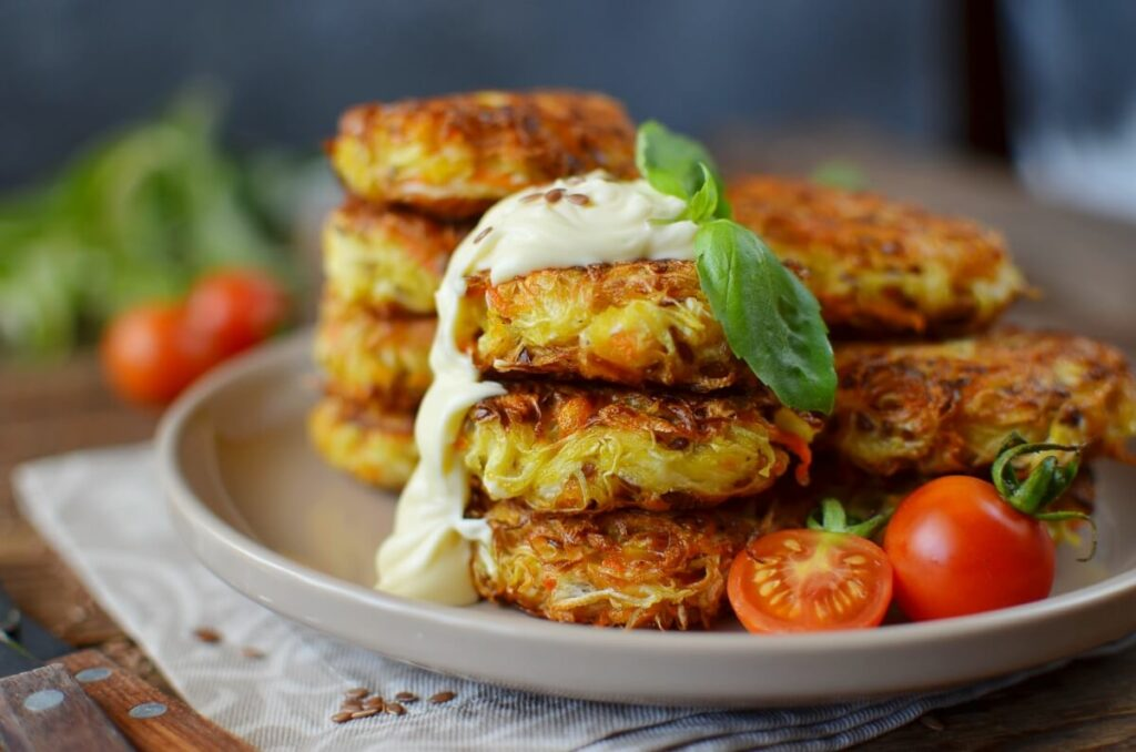 How to serve Vegan Cabbage Fritters