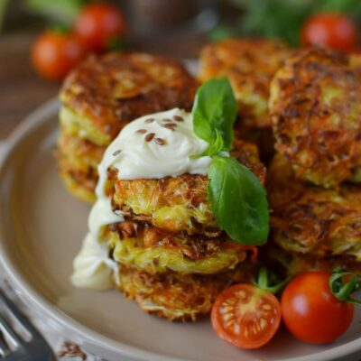 Vegan Cabbage Fritters Recipe-How To Make Vegan Cabbage Fritters-Delicious Vegan Cabbage Fritters