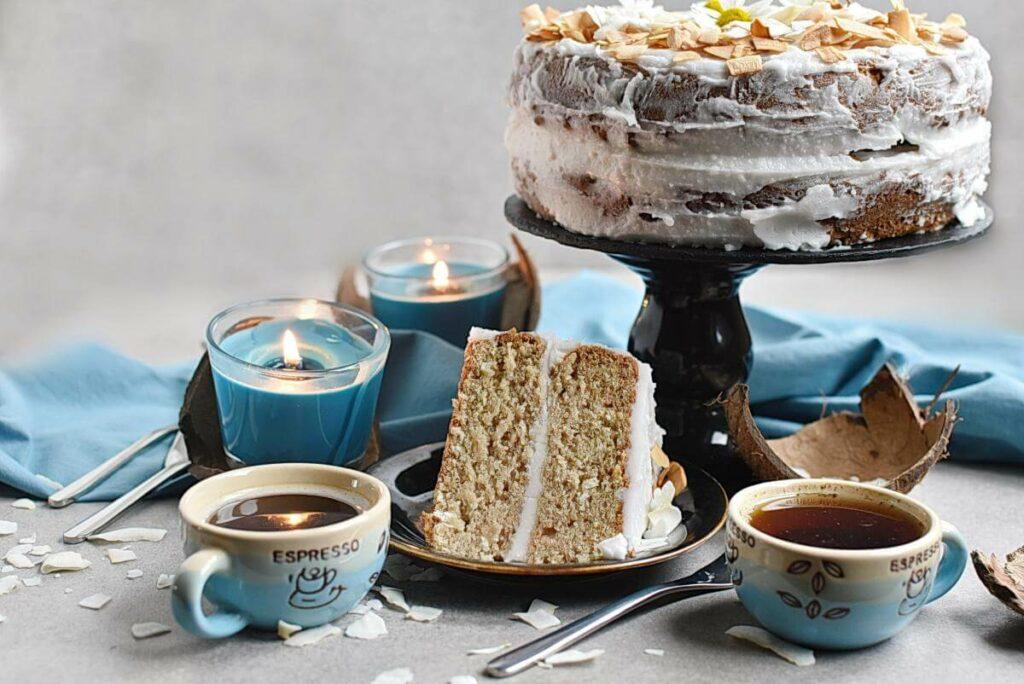 How to serve Vegan Coconut Cake