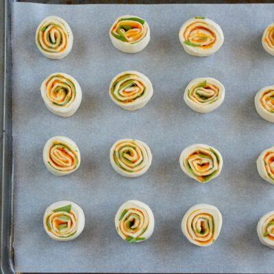 Vegan Pumpkin Basil Pinwheels recipe - step 4