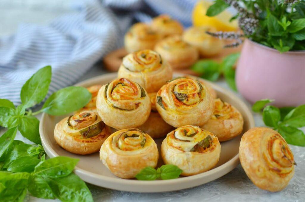 How to serve Vegan Pumpkin Basil Pinwheels