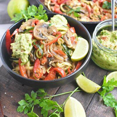 Veggie Fajita Zoodles Recipes– Homemade Veggie Fajita Zoodles–Easy Veggie Fajita Zoodles