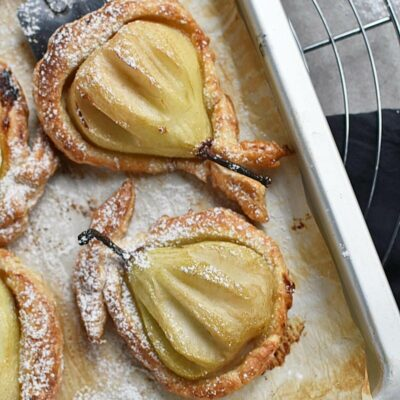 Baked Pears in Puff Pastry Recipes– Homemade Baked Pears in Puff Pastry–Easy Baked Pears in Puff Pastry