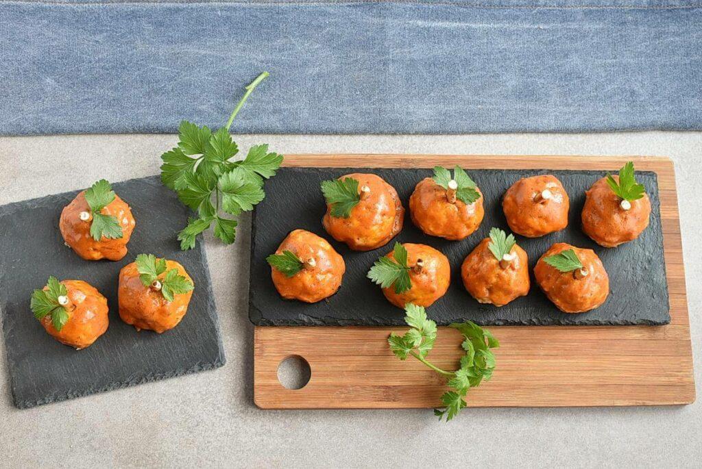 Buffalo Meatball Pumpkins recipe - step 7