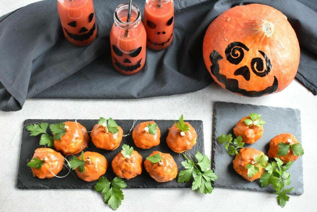How to serve Buffalo Meatball Pumpkins