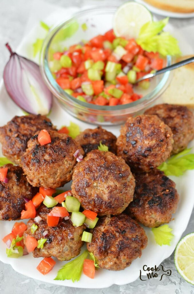 Easy Beef Rissoles with Crunchy Salsa