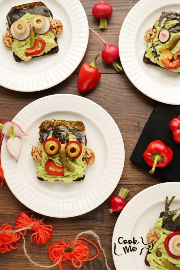 Halloween Avocado Breakfast Toast