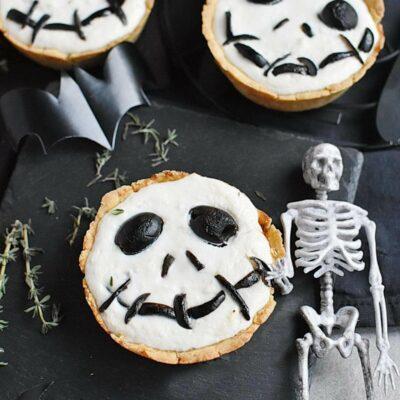 Halloween Jack Skellington Ricotta Olive Tarts Recipes– Homemade Halloween Jack Skellington Ricotta Olive Tarts –Easy Halloween Jack Skellington Ricotta Olive Tarts