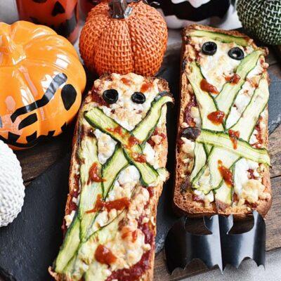Halloween Mummy Pizzas Recipes– Homemade Halloween Mummy Pizzas –Easy Halloween Mummy Pizzas