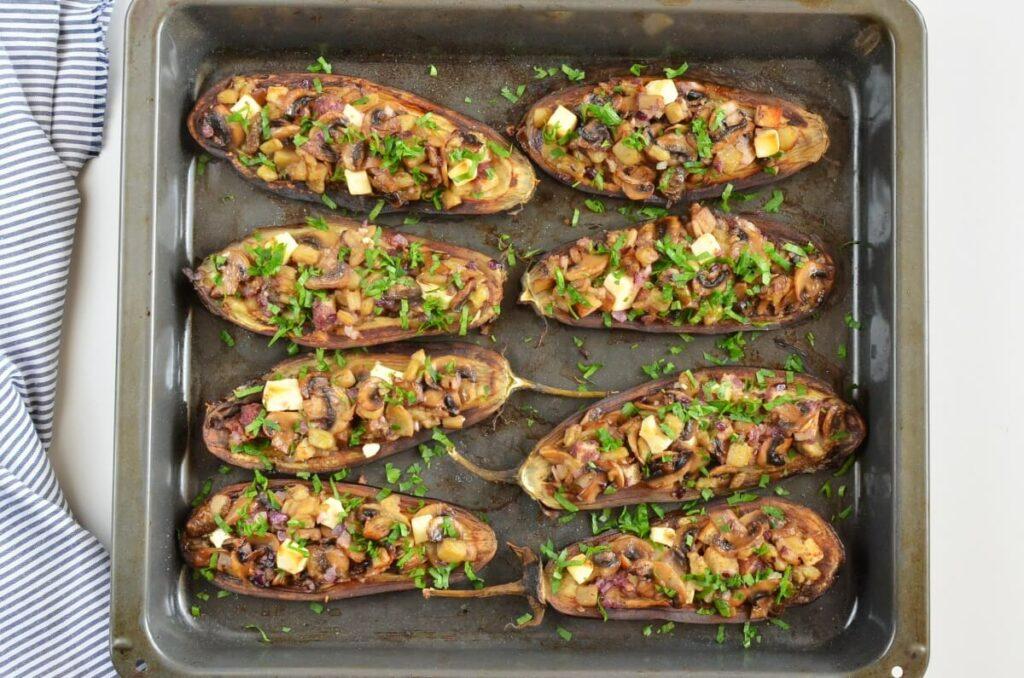 How to serve Mushroom-Stuffed Eggplant