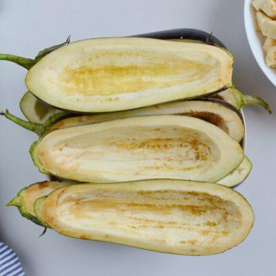 Mushroom-Stuffed Eggplant recipe - step 1