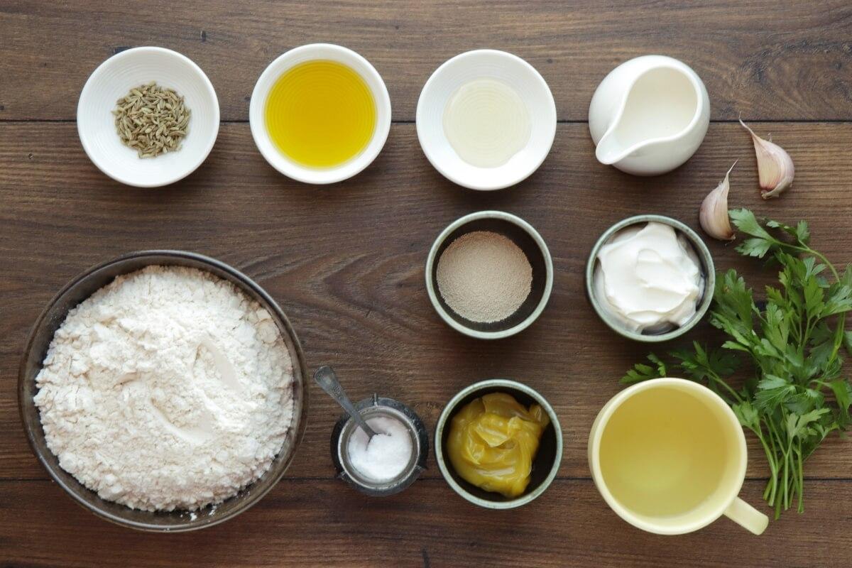 Ingridiens for Naan Bread