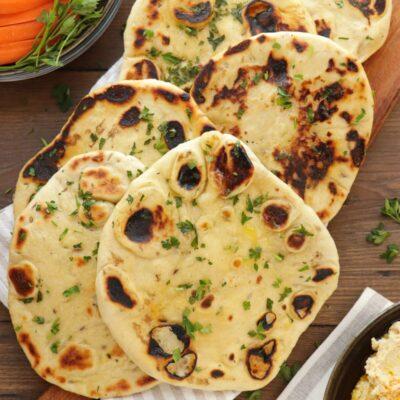 Naan Bread Recipe- Homemade Naan Bread-Naan Bread Yogurt