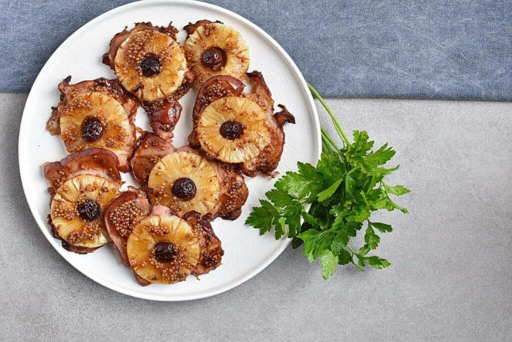 How to serve Pineapple Glazed Ham Slices