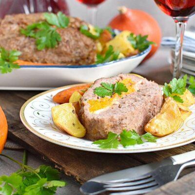 Pumpkin & Cheese Stuffed Meatloaf Recipes– Homemade Pumpkin & Cheese Stuffed Meatloaf–Easy V Pumpkin & Cheese Stuffed Meatloaf