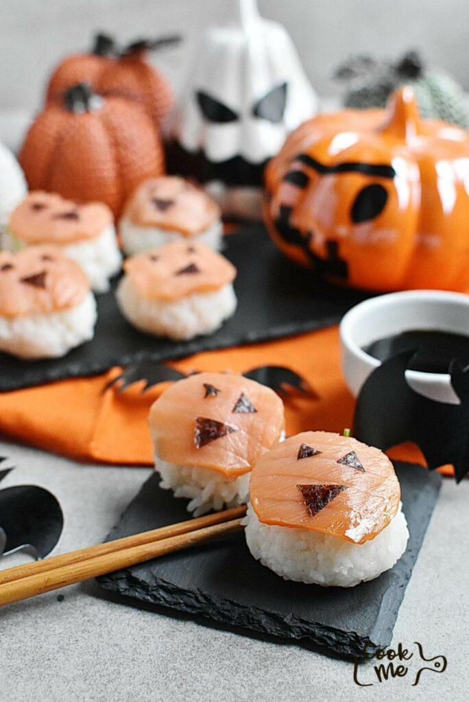 Pumpkin Sushi Rice Balls