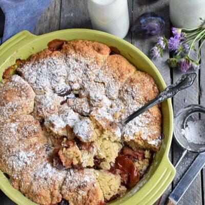 Rustic Plum Biscuit Pie Recipes– Homemade Rustic Plum Biscuit Pie–Easy Rustic Plum Biscuit Pie