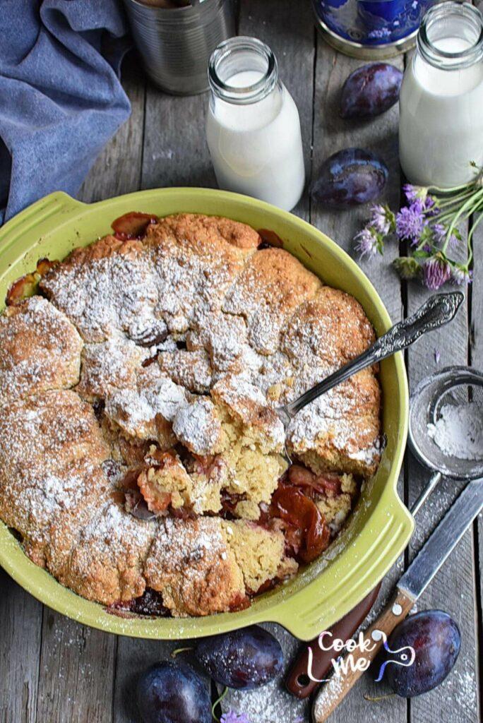 Rustic Plum Biscuit Pie