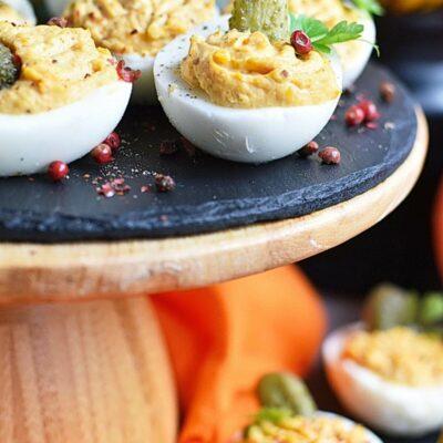 Smokey Pumpkin Deviled Eggs Recipes– Homemade Smokey Pumpkin Deviled Eggs–Easy Smokey Pumpkin Deviled Eggs