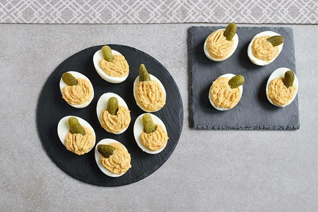 How to serve Smokey Pumpkin Deviled Eggs