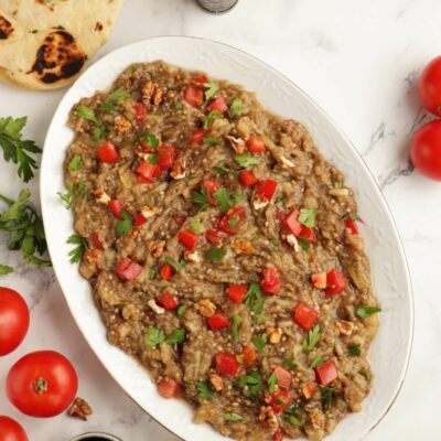 Syrian Baba Ganoush Recipe-Baba Ghanoush-Baba Ganoush without Tahini